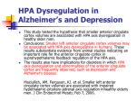 hpa dysregulation in alzheimer s and depression