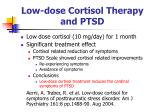 low dose cortisol therapy and ptsd