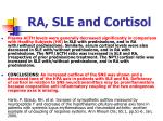 ra sle and cortisol