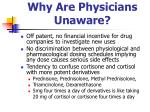 why are physicians unaware