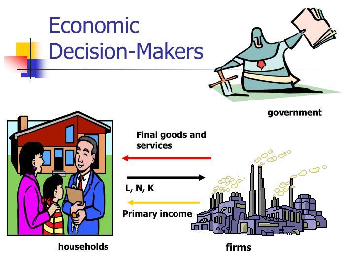 Economic decision makers