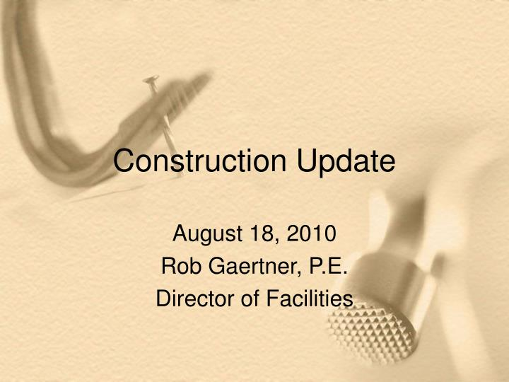 construction update n.