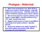 prologue historical