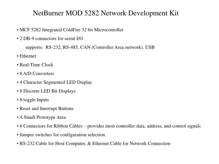 Netburner mod 5282 network development kit