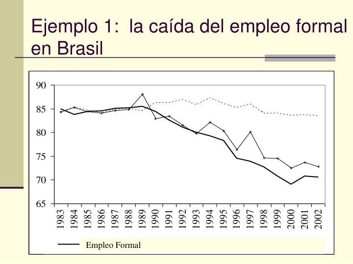 Ejemplo 1:  la caída del empleo formal en Brasil
