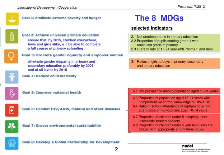 to what extent have the millennium development goals The millennium development goals (mdgs) means eight international development goals that all un members (192 nations) and 23 international organizations have agreed to achieve by the year 2015.