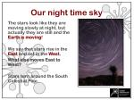 our night time sky
