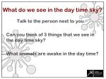 what do we see in the day time sky