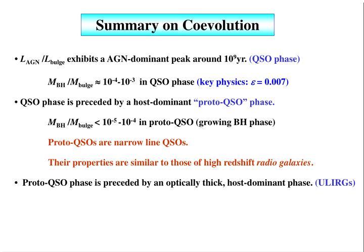 Summary on Coevolution