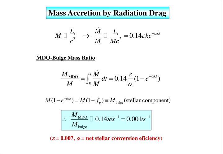 Mass Accretion by Radiation Drag