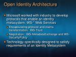 open identity architecture