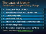 the laws of identity established through industry dialog