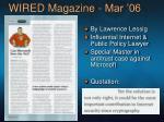 wired magazine mar 06