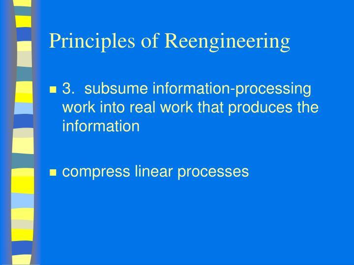 Principles of Reengineering