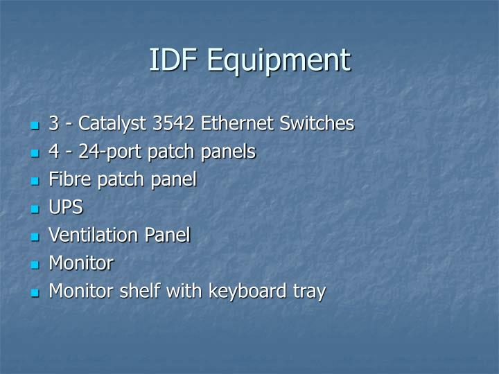 IDF Equipment