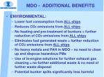 mdo additional benefits