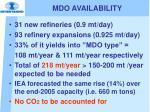 mdo availability
