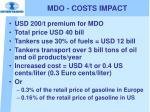 mdo costs impact