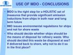 use of mdo conclusions2