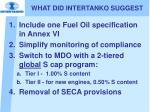 what did intertanko suggest