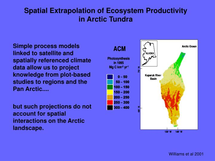Spatial Extrapolation of Ecosystem Productivity in Arctic Tundra