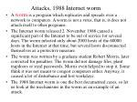 attacks 1988 internet worm