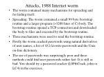 attacks 1988 internet worm1
