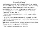 how to find bugs