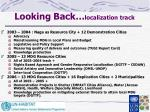 looking back localization track