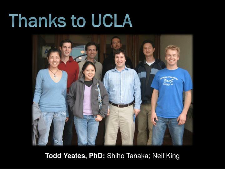 Thanks to UCLA