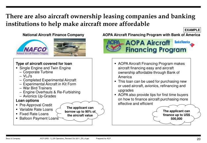 There are also aircraft ownership