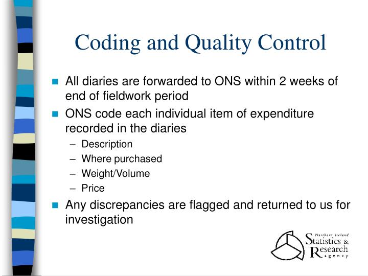 Coding and Quality Control