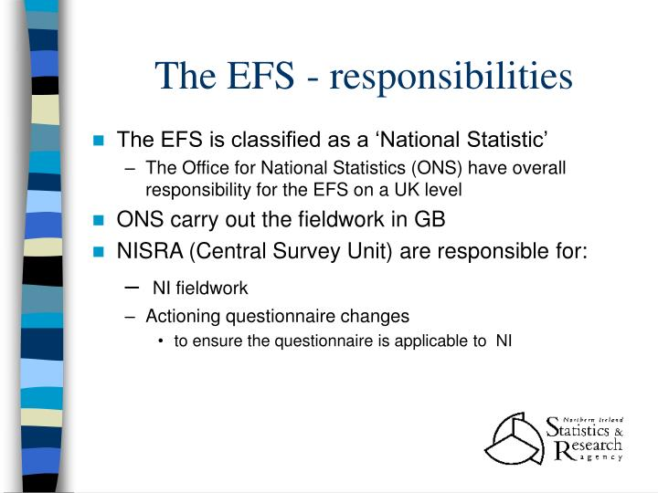 The efs responsibilities