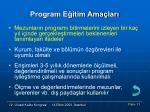 program e itim ama lar