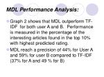 mdl performance analysis