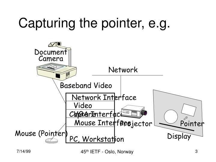 Capturing the pointer e g