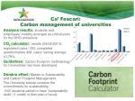 ca foscari carbon management of universities