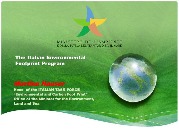 the italian environmental footprint program