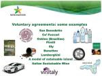 voluntary agreements some examples