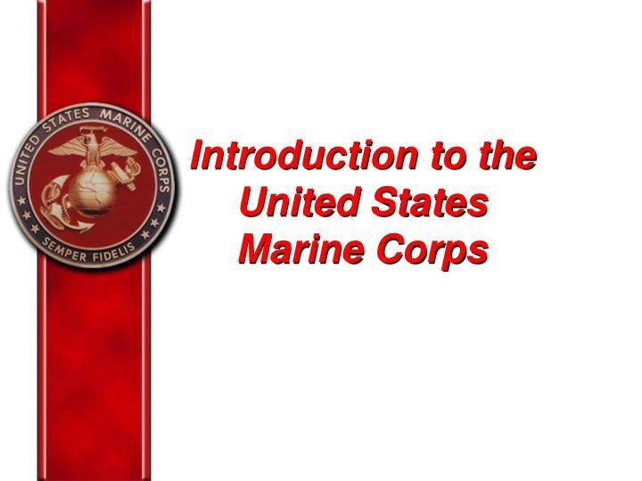introduction to the united states marine corps n.