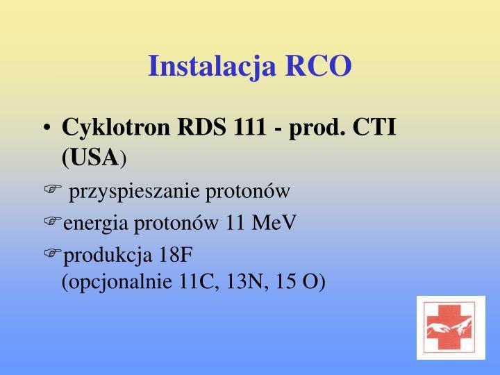 Instalacja RCO