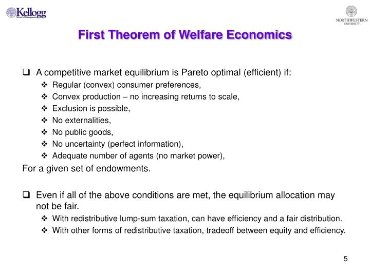 First Theorem of Welfare Economics
