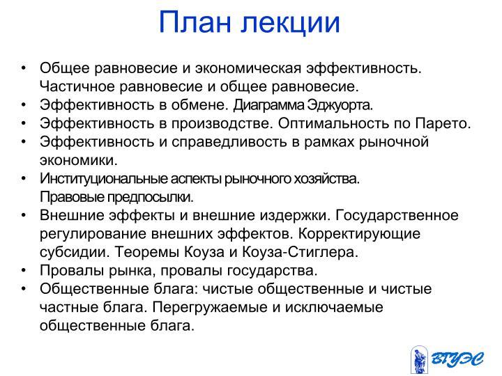 План лекции