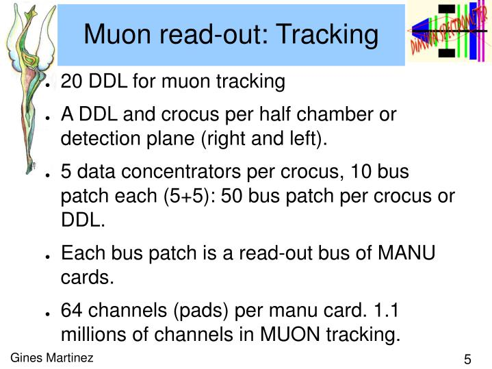 Muon read-out: Tracking