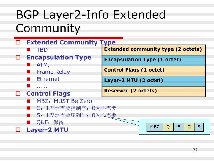 BGP Layer2-Info Extended Community