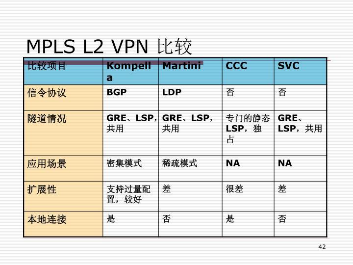 MPLS L2 VPN