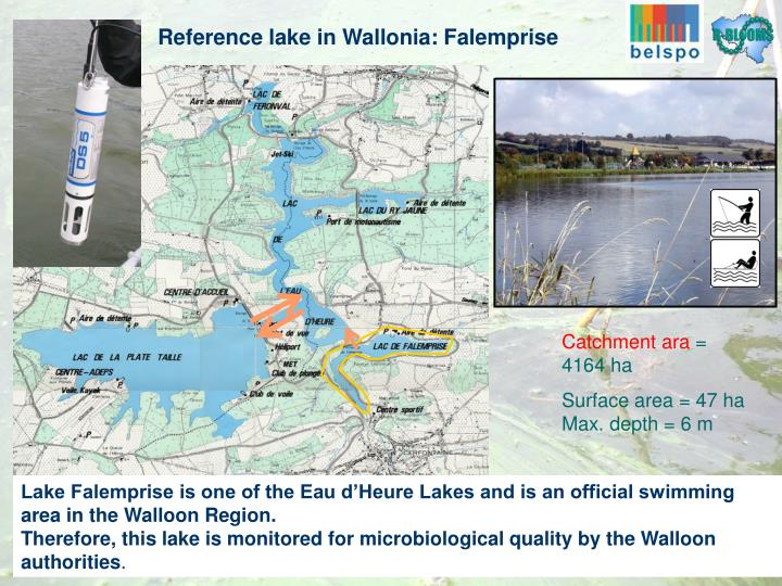 Reference lake in Wallonia: Falemprise