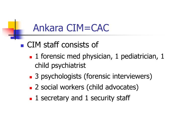 Ankara CIM=CAC