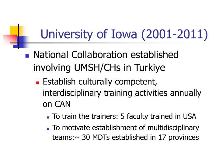 University of Iowa (2001-2011)