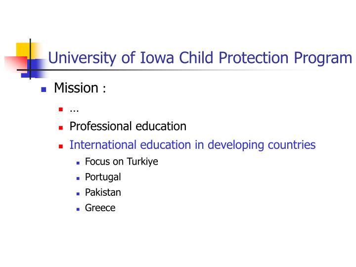 University of Iowa Child Protection Program